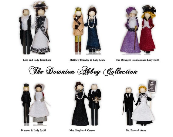Season 2 Complet set of 6 Downton Abbey Clothespin Doll Ornament Kits: Buy More and Save