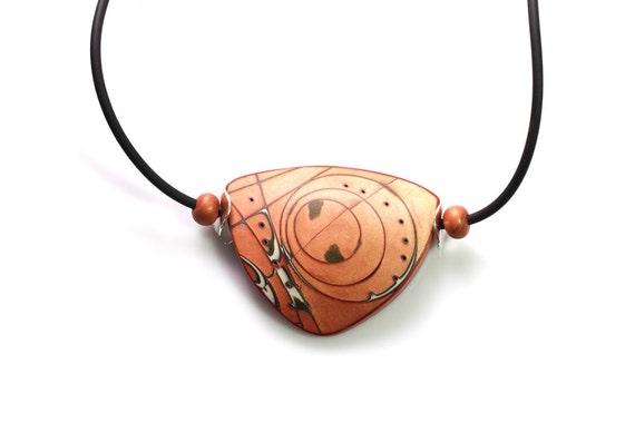 Fall Orange Necklace Modern Elegant Designers Fashion Geometric Ethnic Art Jewelry Autumn Inspired