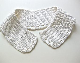 Cotton Crochet Collar Handmade Crochet Collar Vintage Cotton Collar Off White Wedding Fashion