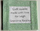 Customized Quilt Label