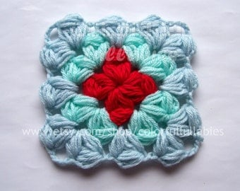 Puff 4-Petal Jasmine Stitch No 1. Pdf crochet by ColorfulLullabies