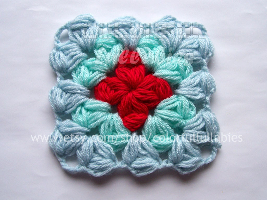 Puff granny square crochet pattern afghan block zoom bankloansurffo Images