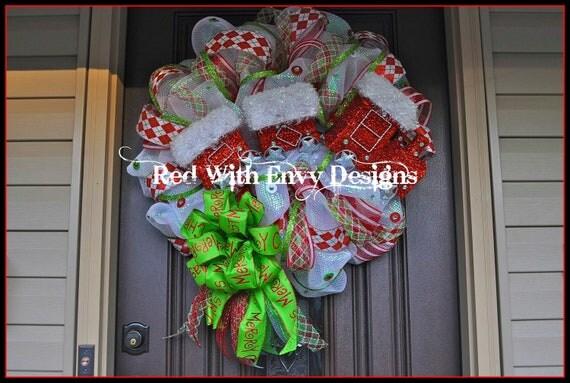 Lighted Christmas Wreath, Deco Mesh Wreath, Wreath, Lighted Wreath, Christmas, Christmas Decor, Christmas Decoration, Har, Hat Wreath, RAZ