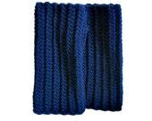 Navy Blue Ribbed Crochet Fingerless Gloves