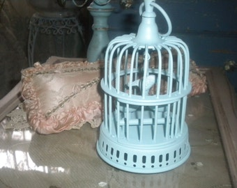 Sweet Up cycled Brass Birdcage, Shabby chic, French,French Country,Eclectic