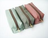 Leather Pouch / Travel Organizer- Heavy Duty Zipper