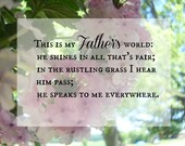 My Father's World 8x10 Photography Print