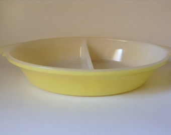 Divided Yellow Dish