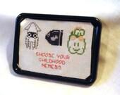 Super Mario Villains Magnet Framed Magnetic Cross Stitch Childhood Nemesis