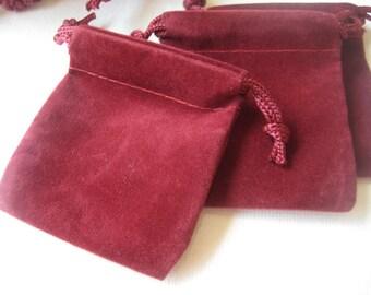 Mini velvet bag - 25 pcs Burgundy