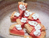 Autumn is coming -- get the Pumpkin Pie ready -- polymer clay charm