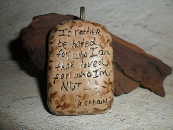 Kurt Cobain Quote Necklace
