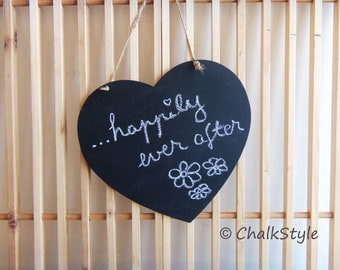 """10""""x10"""" Chalkboard for Rustic Wedding Decor or Photo Prop Chalk Board Photo Booth Props Hanging Wedding Sign"""