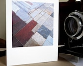Architectural Greetings Card: Lucca, chancel pavement in San Frediano