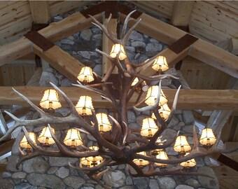 Monster Elk Antler Chandelier, great for 30-40 ceiling, Lodge, Best builder, Quality, One of a kind