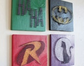 Batman String Art - Wall Hangings (Set of Four)