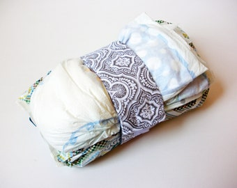 Damask Diaper Strap - Grey and White Damask