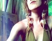 go your own way. talisman feather earrings. 'in stock/ ready to ship'