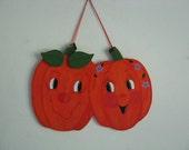 Pumpkin, Pumpkin Couple, ready to hang, wall decor, decoration, halloween, wood