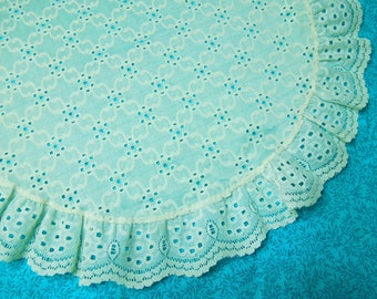 Vintage Ivory 18 inch lace doily for kitchen, christmas, holiday, housewares, home decor, decorations, valentines by MarlenesAttic