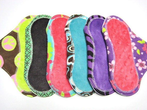 7 1/2 inch Breathable Little Pantyliners - Set of 6 - Backed with Flannel - Customize Your Set