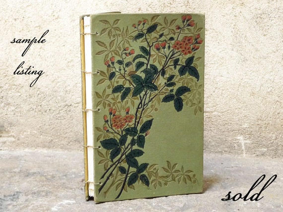 Garden Party Guest Book, Wedding Sign in Book, Upcycled Vintage French Book, Summer Floral Wedding Journal, Personalized Reception Book