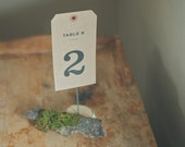 10 Kraft Table Number or Letter Signs for Rustic Weddings (Custom)