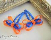 UF Florida Gators Hair Clip -- Butterfly bow snap clip set