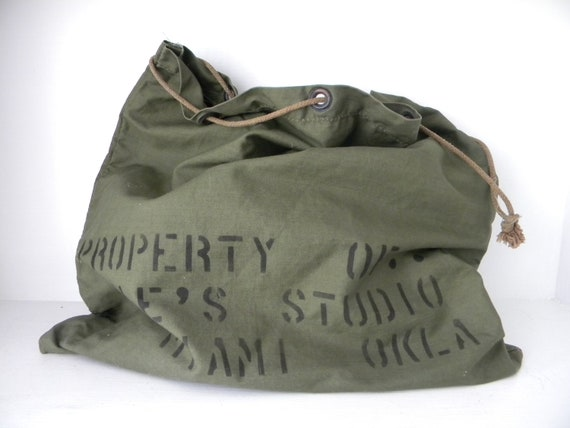 Vintage Army Green Pouch