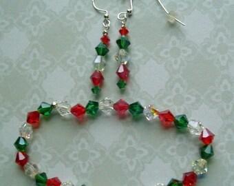 Xmas Bracelet and earrings