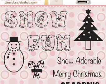 Christmas scrapbooking stamps