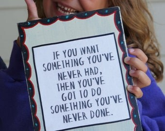 Do something you've never done handmade encouragement card