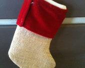MIni Burlap Stockings