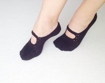 Gothic Black Healthy Booties Home slippers Dance classic yoga sexy hygienic light Naturel yoga,socks,halloween,christmas