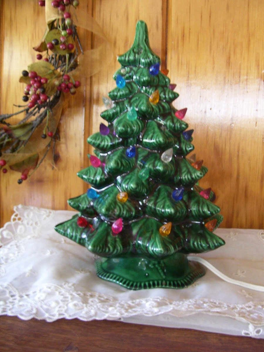 Antique Atlantic Mold Ceramic Christmas Tree By