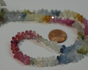 Multi Sapphire Drops Faceted
