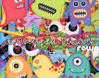 Rawr - Monsters Digital Scrapbooking Kit