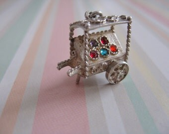 Vintage Silver Nuvo Moving Market Stall Charm