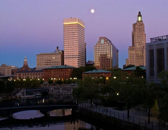 Blue Moon over Providence 2, 9 x 12 photo print