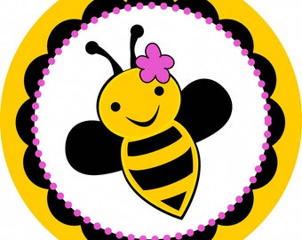 Bumble Bee Stickers - set of 25
