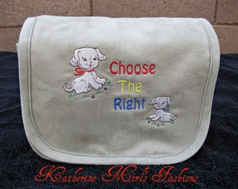 "Scripture Cover- ""Choose the Right"" with puppy's"