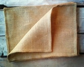 Set of 2- Burlap Placemats-Double Sided/Reversible-3 Colors Available- Rustic/Country/Folk Decor-Woodland-Primitive-Cabin Decor