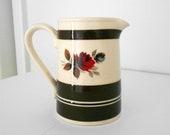 Vintage Brown Coffee Creamer Rose Pitcher Sadler Made in Staffordshire England