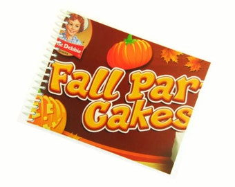 FALL PARTY CAKES little debbie recycled spiral bound journal notebook
