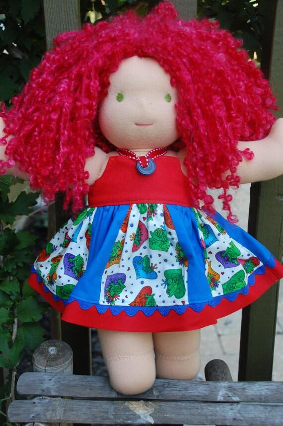 "14-16"" Bamboletta Waldorf Doll frog dress"