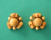 Reserved for K, Bamboo Earrings, Clip Ons, Japan, Vintage