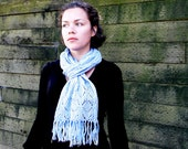 READY-TO-SHIP long blue elegant  lace soft scarf