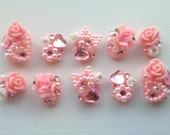 Pink Hime Gyaru Deco Nails