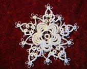 Tatted Rose Snowflake