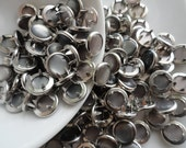 25 Smoke Gray  Pearl Snap Sets - 4-Part No-Sew Size 16